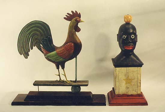 Rooster and Carnival Head
